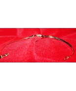 925 Sterling Silver wrist ankle bracelet gold p... - $8.95