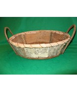 Hand Made Birch Basket, Folk Art, Birch Bark and Twigs, Unusual & Organic NICE! - $19.95