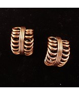 Vintage RENOIR Copper Clip Earrings - $34.95