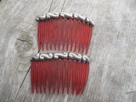 Sterling Silver Hair Combs Mexico Vintage - $49.00