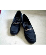 Nine West Microfiber Black Med-heel Loafer