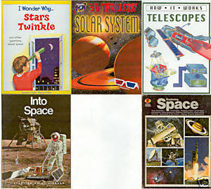 5) STARS;TELESCOPES;SOLAR SYSTEM;INTO/ EXPLORING SPACE