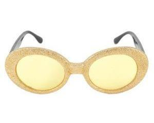 Halloween Party Disco Fun Hippie Groovy Gold Glitter Sunglasses