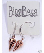 BING BANG Ice Cream Cone Earrings Rose Gold Sil... - $28.72