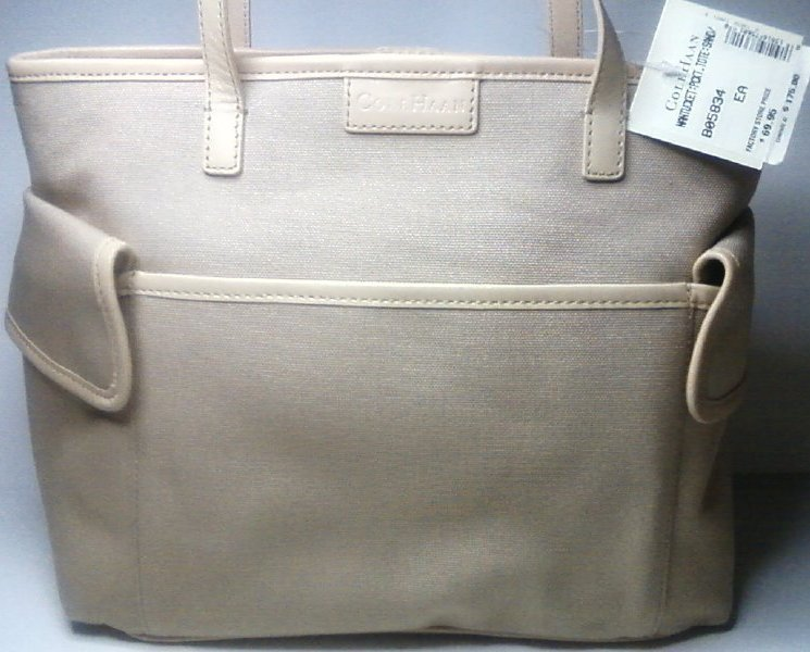 Cole Haan Tote Bag Nantucket Pocket Sand New