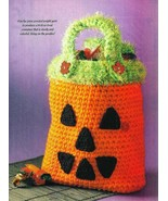 Crochet Trick or Treat Halloween Pumpkin Bag Pattern - $2.45