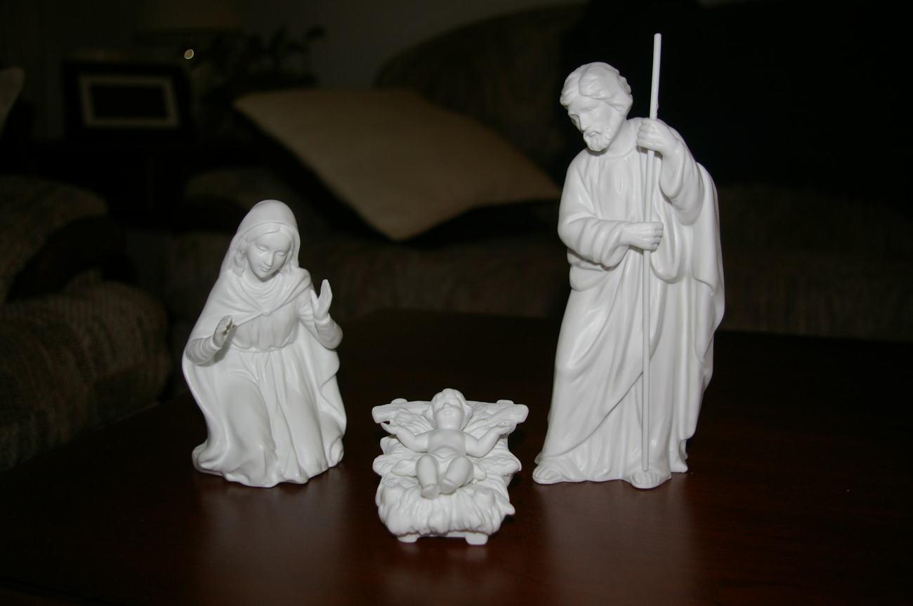 Homco Nativity White Bisque Figurines Home Interiors