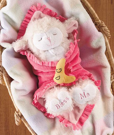 11 Musical Praying Lamb Blanket Baby Pink