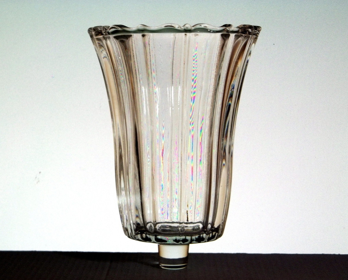 Home Interiors Peg Votive Holder Crystal Royal Large Fancy Candle Holders Accessories