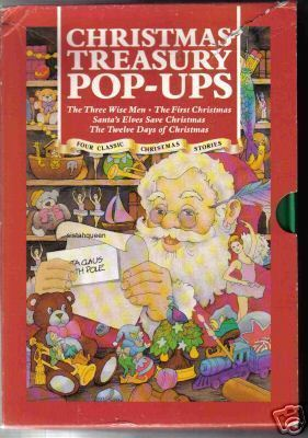 Christmas Treasury Pop Up Books 1991 set 4 children's kid 12 days Santa elves