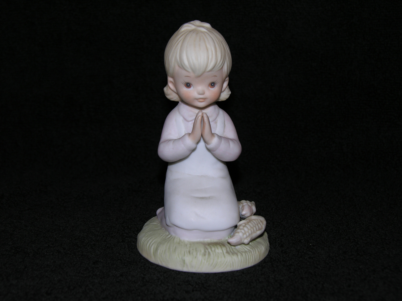 Vintage Lefton Bisque Figurine Religious Hand Painted