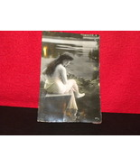 Photo Post Card Glossy Unused Beatiful Lady At ... - $6.00