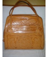Vintage 1960 Hand Tooled Leather Purse LARGE GUC - $39.99