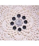 Black Matte Buttons~3/8