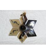 Bull's horn, Alpaca Silver Star and Black Onyx ... - $8.00