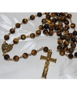 Brown Tiger's Eye Rosary- Genuine Natural Beads - $185.00
