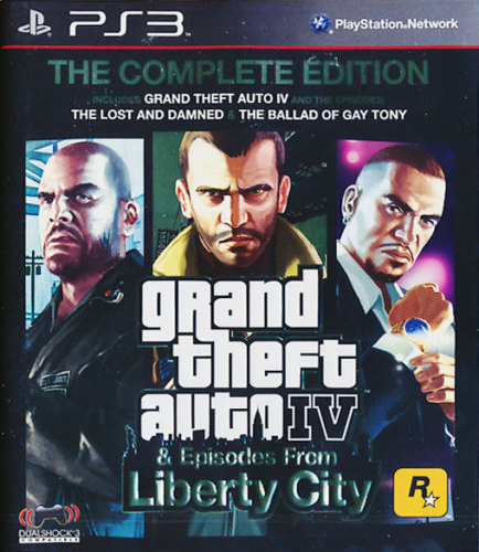 Grand Theft Auto GTA 4 IV: The Complete Edition, PS3 game