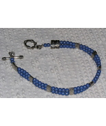 Handcrafted Blue Desert Sun and Silver Beaded A... - $6.00