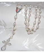10mm White Freshwater Pearl Rosary Beads - RARE... - $225.00