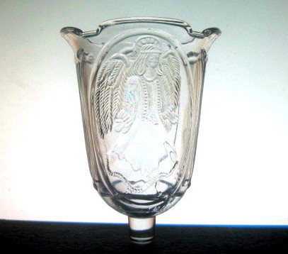 Homco Pegged Votive Candle Cup Angel Columns Clear