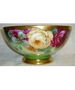 Gorgeous Lg Antique Hand Painted Porcelain Bowl... - $495.00