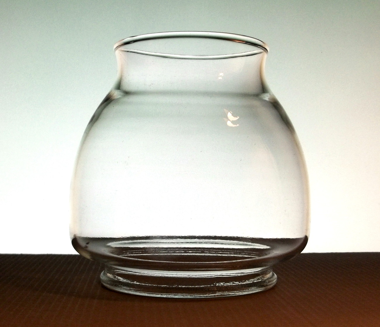 Hurricane Glass Lamp Shade Ginger Bowl 3.25 inch fitter x 4.5