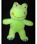 Wondertreats Frog Star Face Blue Stripe Feet Pl... - $20.00
