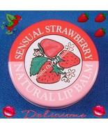 CANDY KISSES Flavored Lip Balm Tin SENSUAL STRAWBERRY  - $2.49