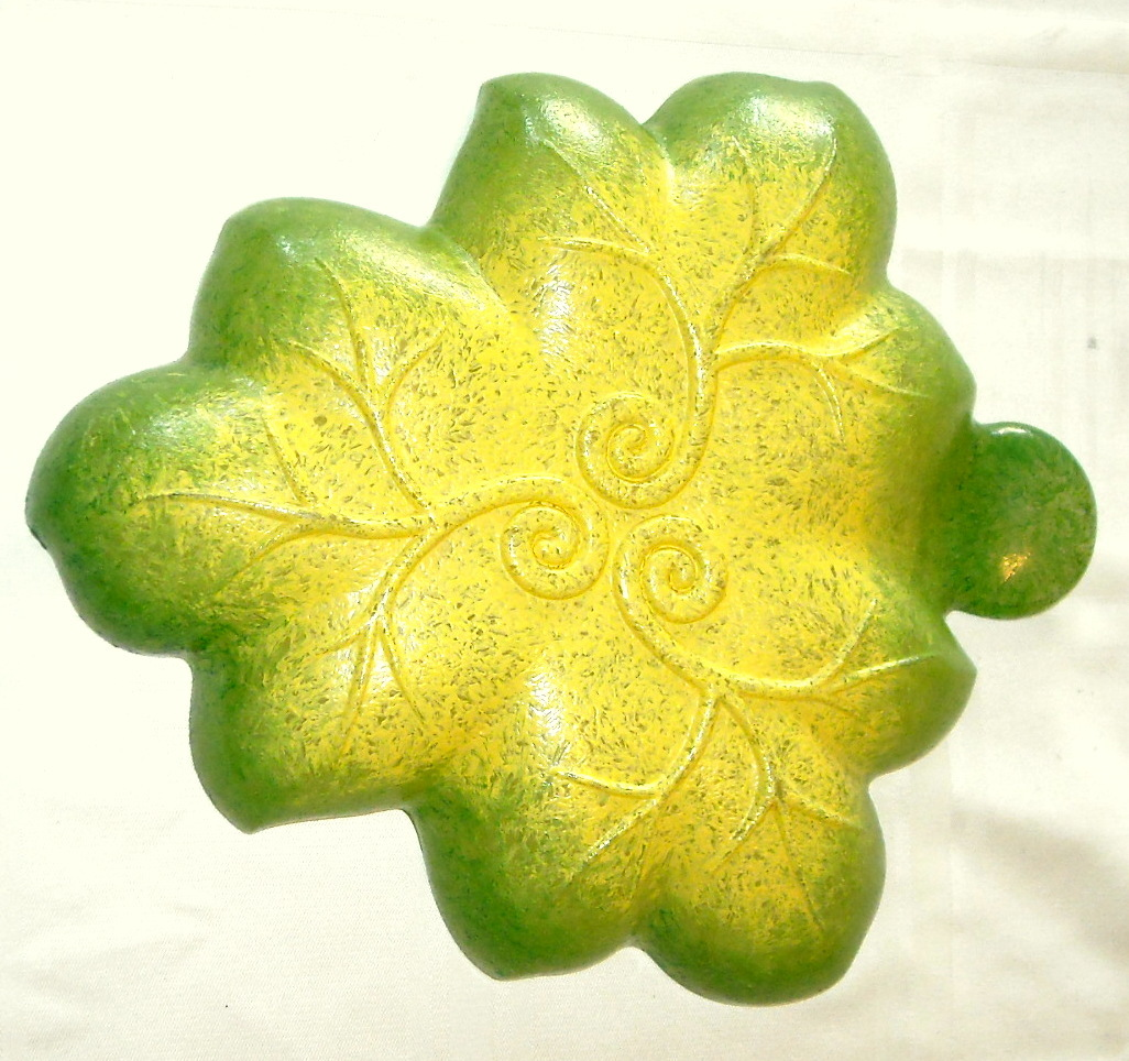 Vintage Serving Decorative Dish Leaf Shape with Grapevines