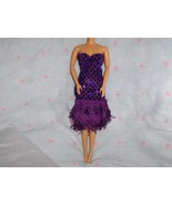 Purple Glitter Dot Fringe Roaring 20's Dress fi... - $5.95
