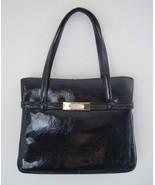 Vintage 1960's Handbag - Classic Black Patent L... - $24.88