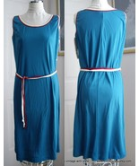 Retro 1970's Sleevless Casual Summer Blue Dress... - $15.88