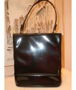 Black Patent Leather 1940's Handbag by Mam'Sell... - $48.88