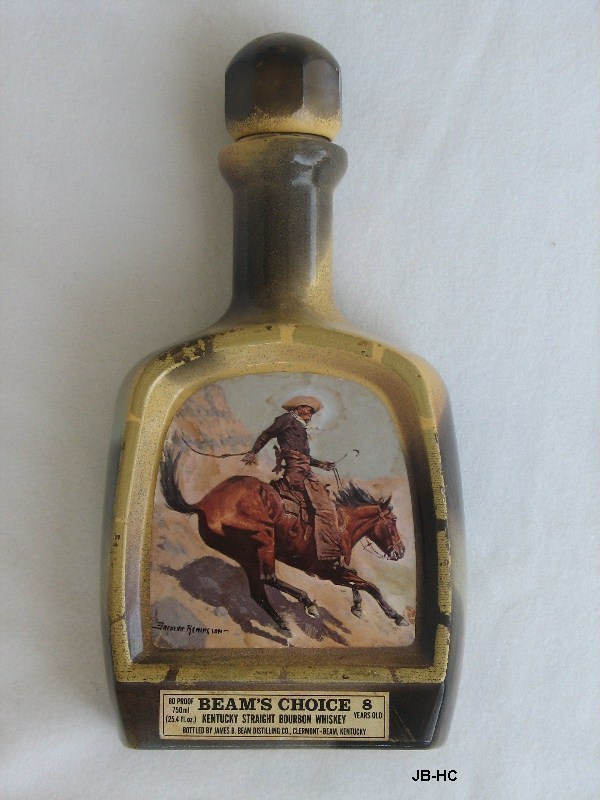 Jim Beam Bottles Price Guide http://www.bonanza.com/listings/Jim-Beam-The-Cowboy-Bourbon-Whisky-Bottle/21857187