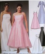Simplicity 5207 New Evening Dress Bolero Pattern 18W to 24W Prom Brides Maid - $8.95