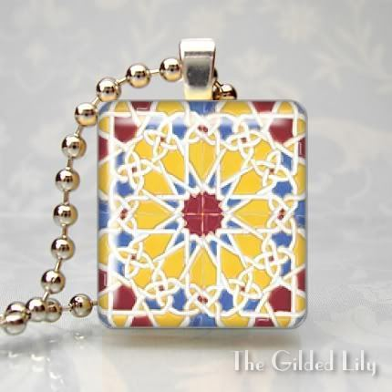 SPANISH TILE BRIGHTS Scrabble Tile Art Pendant Charm