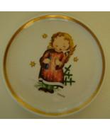Berta Hummel Miniature Plate, Angel and Candle - $12.00