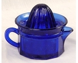 Buy Juicers  - Cobalt Blue Depression Era Glass Juicer / Reamer