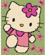 Latch Hook Rug Pattern Chart: HELLO KITTY - EMA... - $5.75