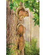 Squirrel Hangs On A Tree Statue Figurine - $10.00