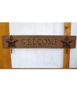 Western Coat Rack Welcome Plaque - $20.00