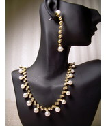GENUINE AUSTRIAN CRYSTAL JEWELRY SET Faux Pearl... - $12.50