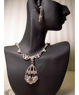 GENUINE AUSTRIAN CLEAR CRYSTAL JEWELRY SET Vict... - $12.50