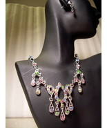 GENUINE AUSTRIAN Pink Blue Green & Lime CRYSTAL... - $12.50