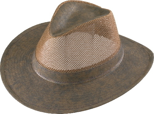 Henschel Hats 5196 Hiker Aussie Mesh Breezer Low Crown Twill Tip Made In USA