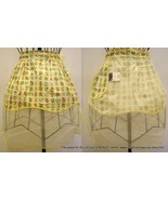 Vintage Reversible Floral Yellow Sheer Hostess ... - $12.88