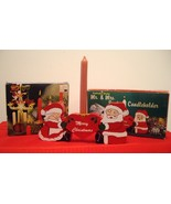 Mr and Mrs Santa Claus Christmas Wooden Candle ... - $14.88