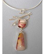 Pendant Stone Pearl Sterling Silver Asian Handc... - $181.00