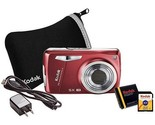 Buy Kodak Digital Cameras - Kodak Easyshare M575 Red 14MP Digital Camera Bundle...