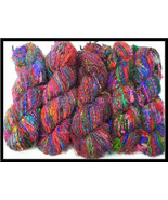 Recycled soft Silk yarn for crochetting 10 skei... - $35.99